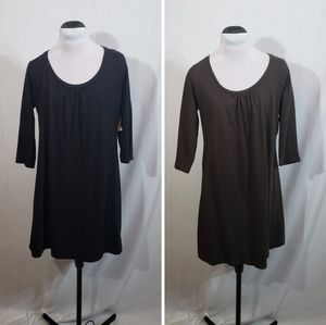 2 NWT Old Navy Tunic Dress/Tops Black/Brown Large